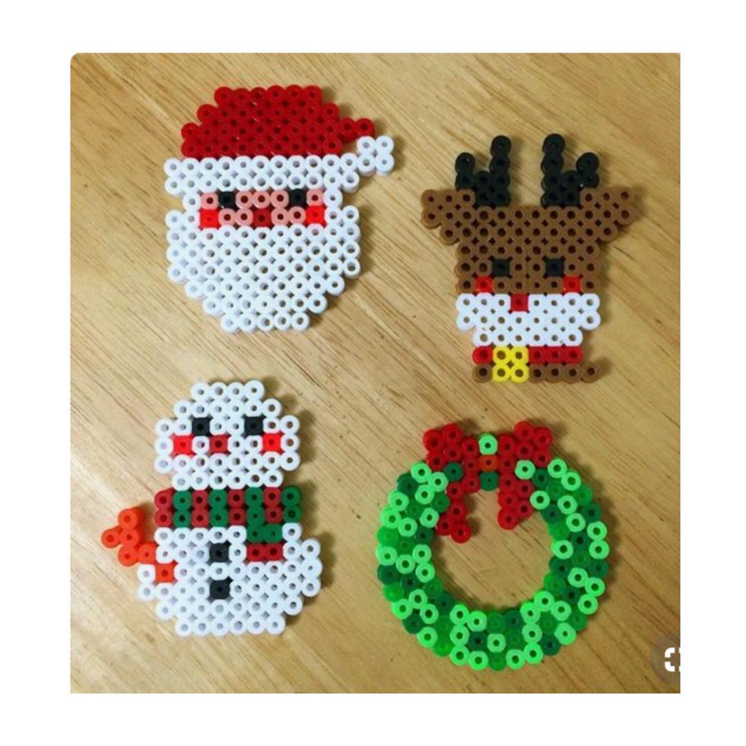 Christmas Hama Beads.Christmas Ornaments Hama Bead Design Design Craft Others