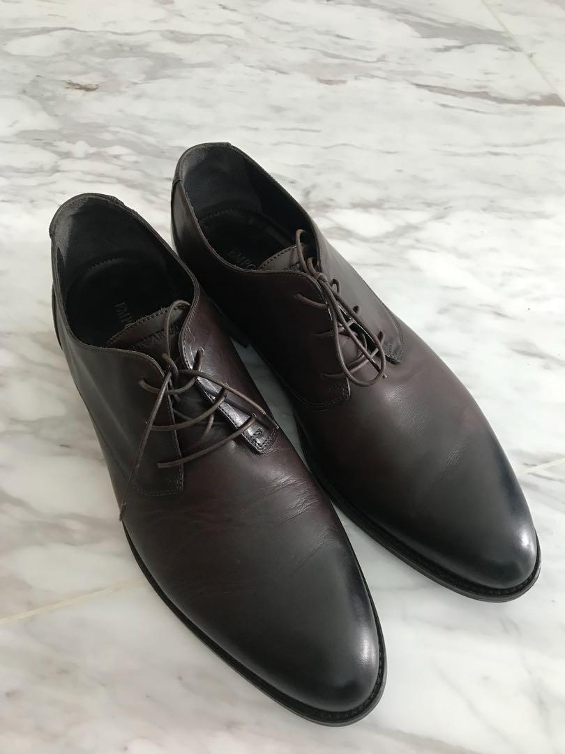 Dark Brown Emporio Armani dress shoes