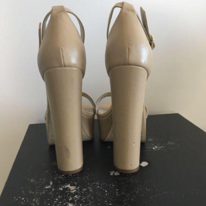 FREE SHIPPING Nude Lipstick Platform Heels