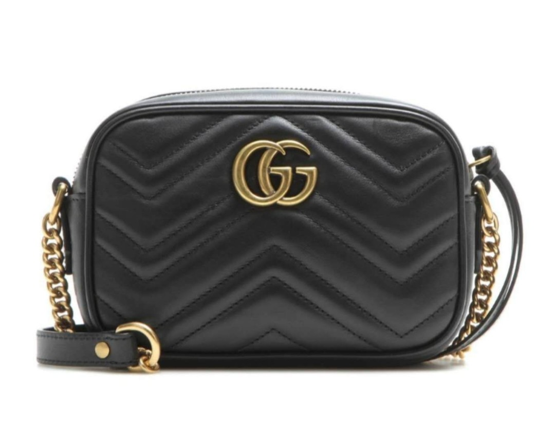9c511a4a6 GUCCI GG Marmont Mini matelassé leather crossbody bag, Women's ...
