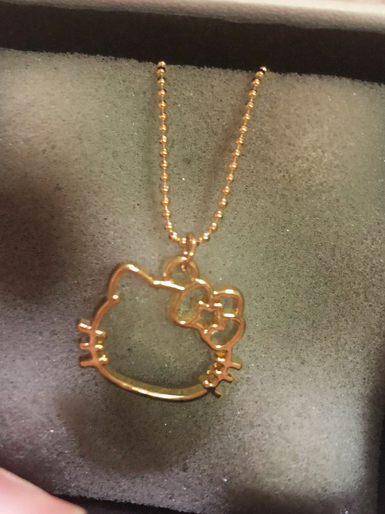 fcfb24573 Hello kitty gold necklace, Women's Fashion, Jewellery, Necklaces on ...