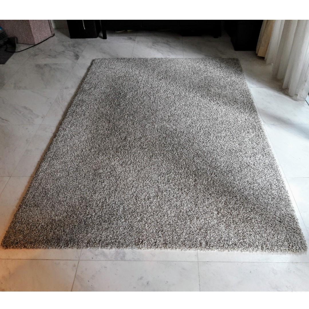 Ikea Alhede Rug Carpet 160x240 cm Off