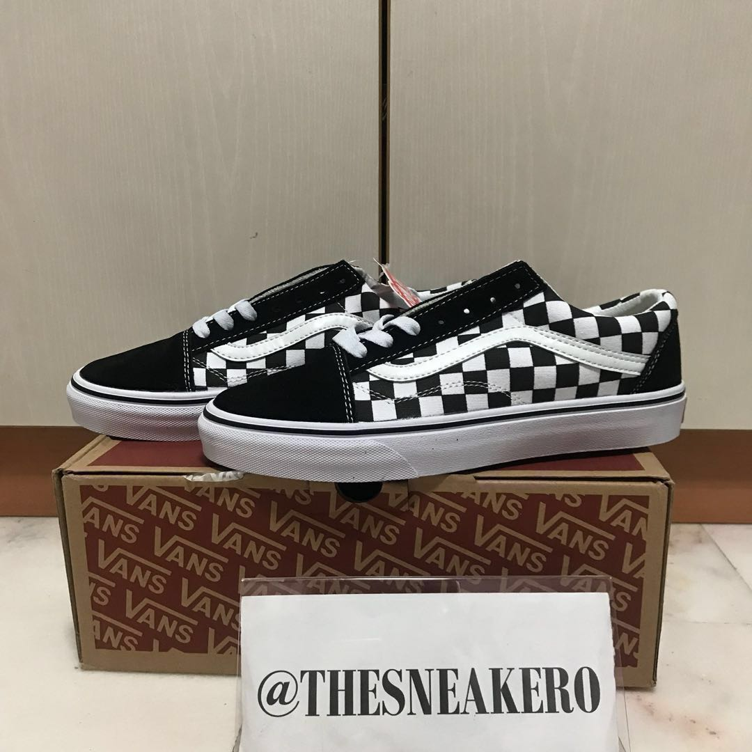 SIZE 40, 43 Checkered Vans Shoelace
