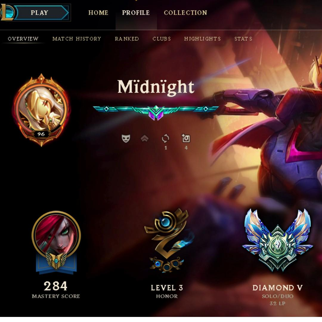 League of Legends Account Diamond 5 OCE