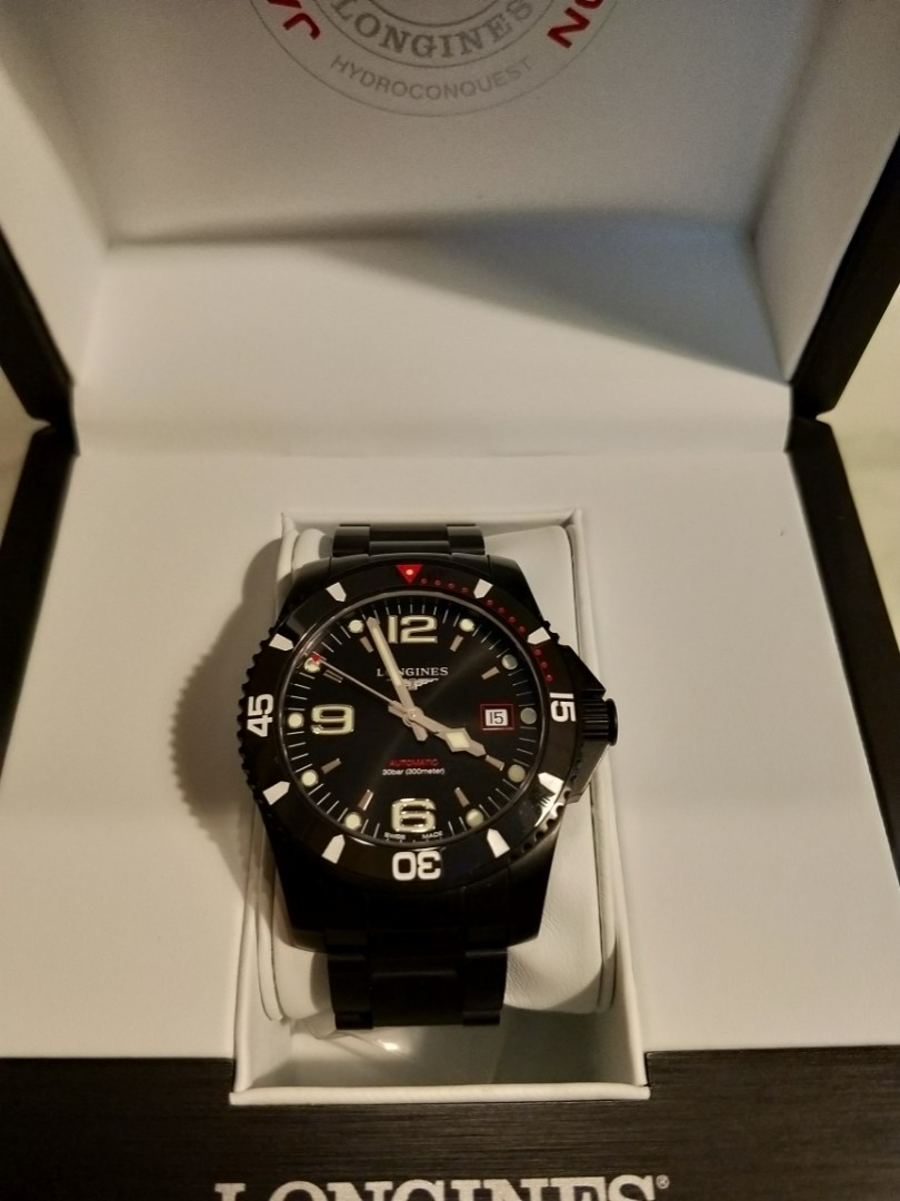ef26febecab1 Longines hydroconquest blackout Japan Limited edition