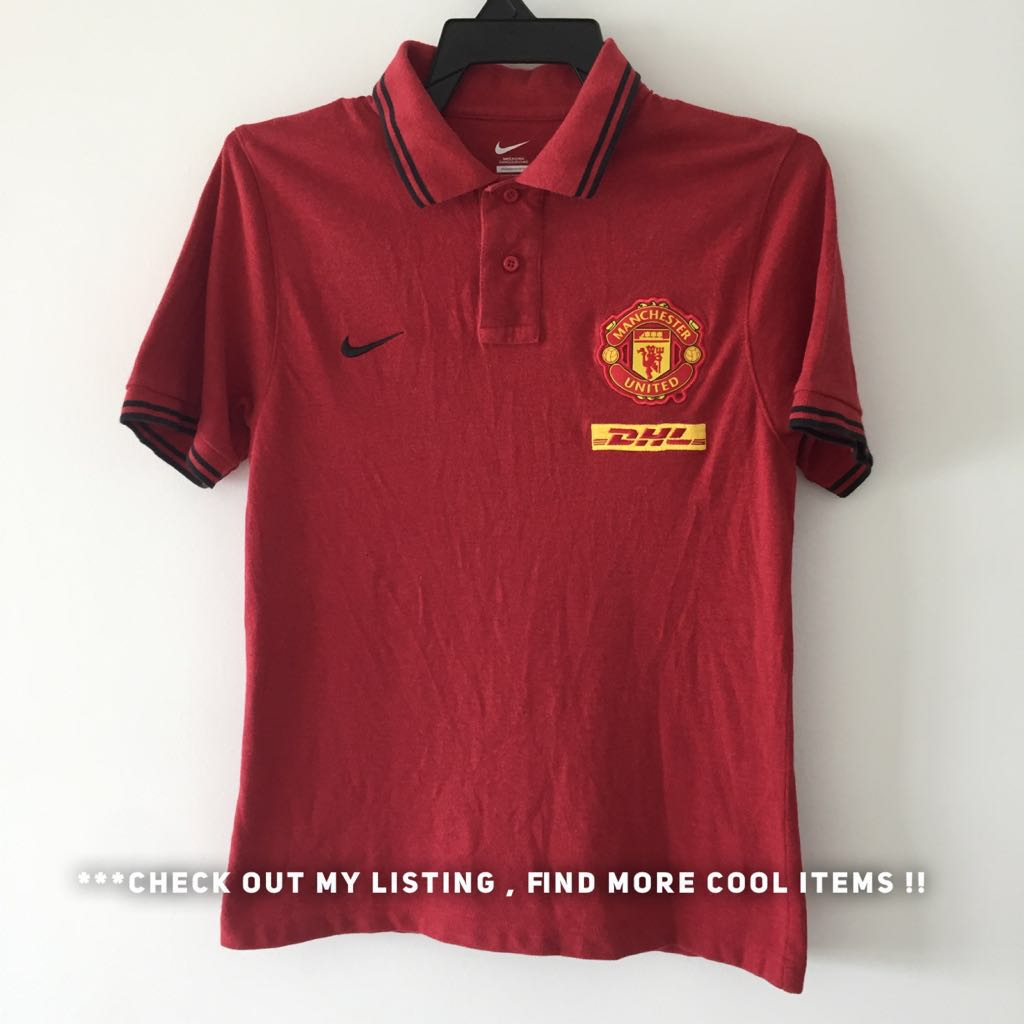 33652d10 Manchester United Polo Tee (Authentic), Men's Fashion, Clothes, Tops ...