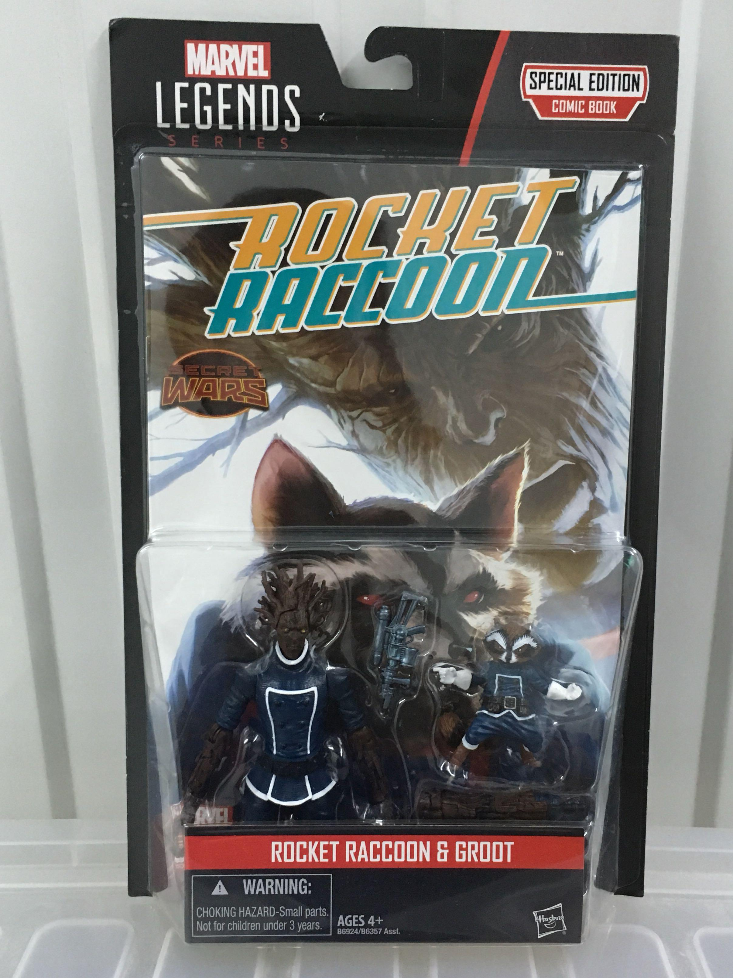 Marvel Legends Rocket Raccoon and Groot Comic Pack 3 75