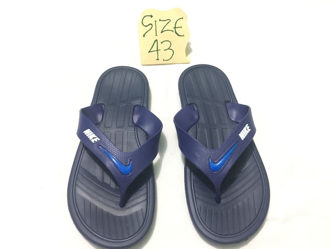 huge selection of d59b9 4c5c1 In stock)Men slippers Nike.size 43, Men's Fashion, Footwear ...