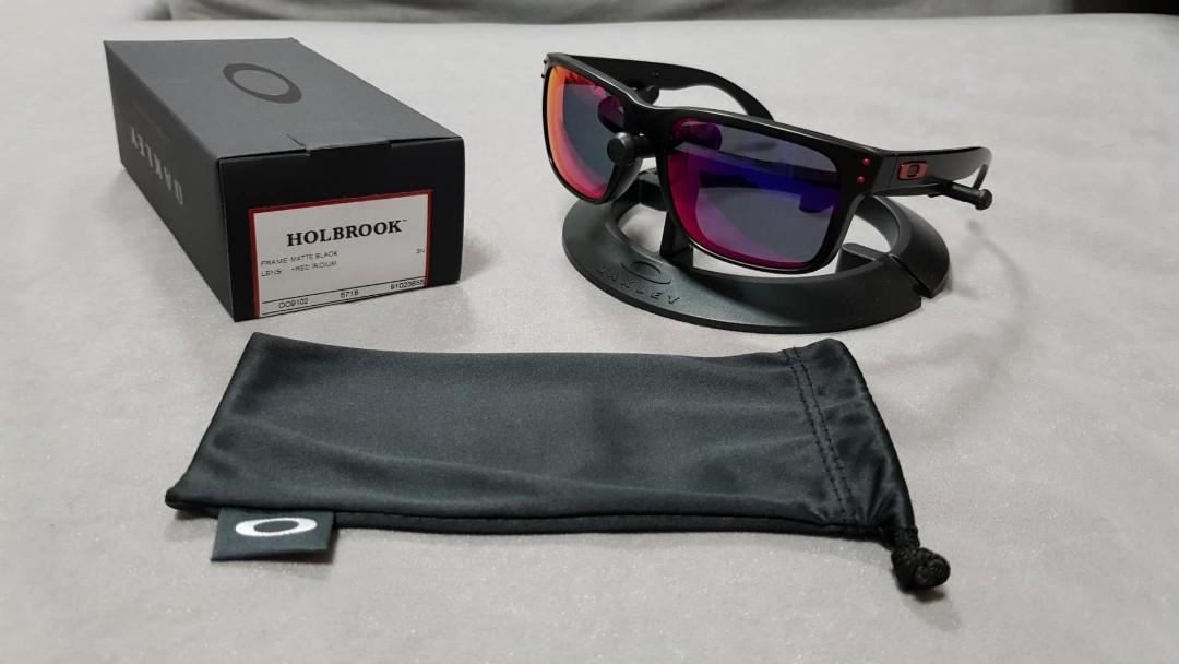 b737f93536 Oakley holbrook matte black +red iridium lens oo9102-36