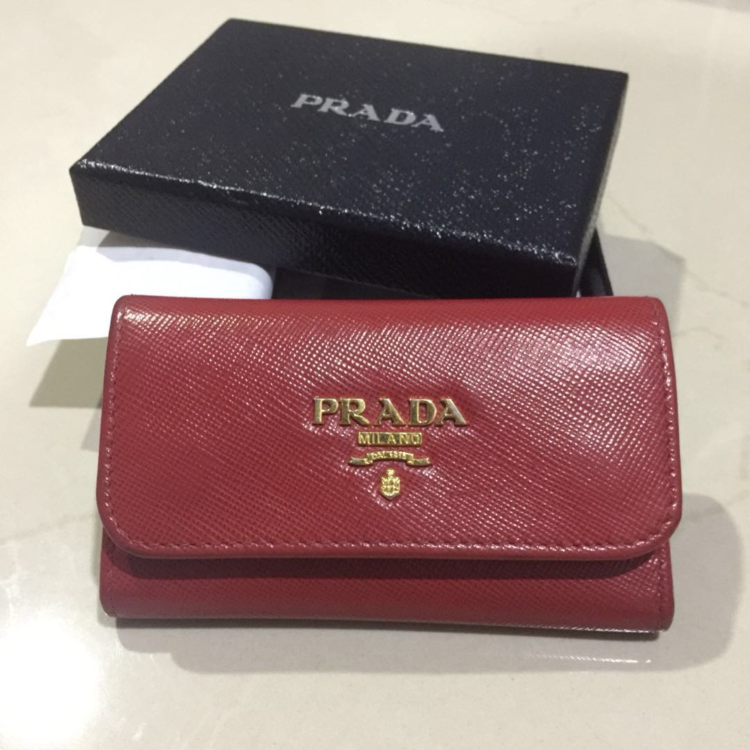 ef3b69d49abd53 Prada Saffiano 6 Key Wallet, Luxury, Bags & Wallets, Wallets on ...