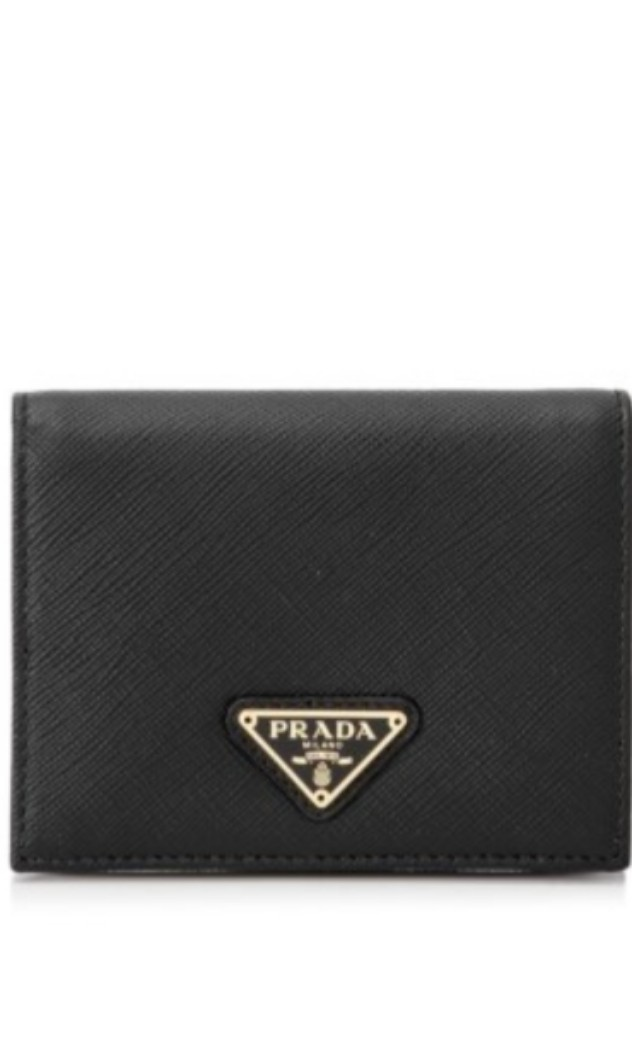 c02955bad983 Prada Saffiano Triangle Short Wallet, Luxury, Bags & Wallets ...