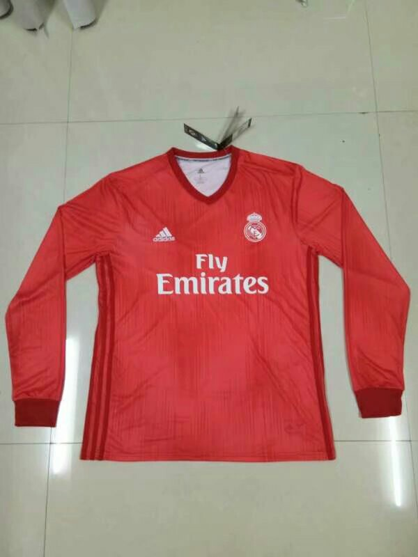 new product dd7c4 32029 Real Madrid 18-19 Third Long Sleeve Kit