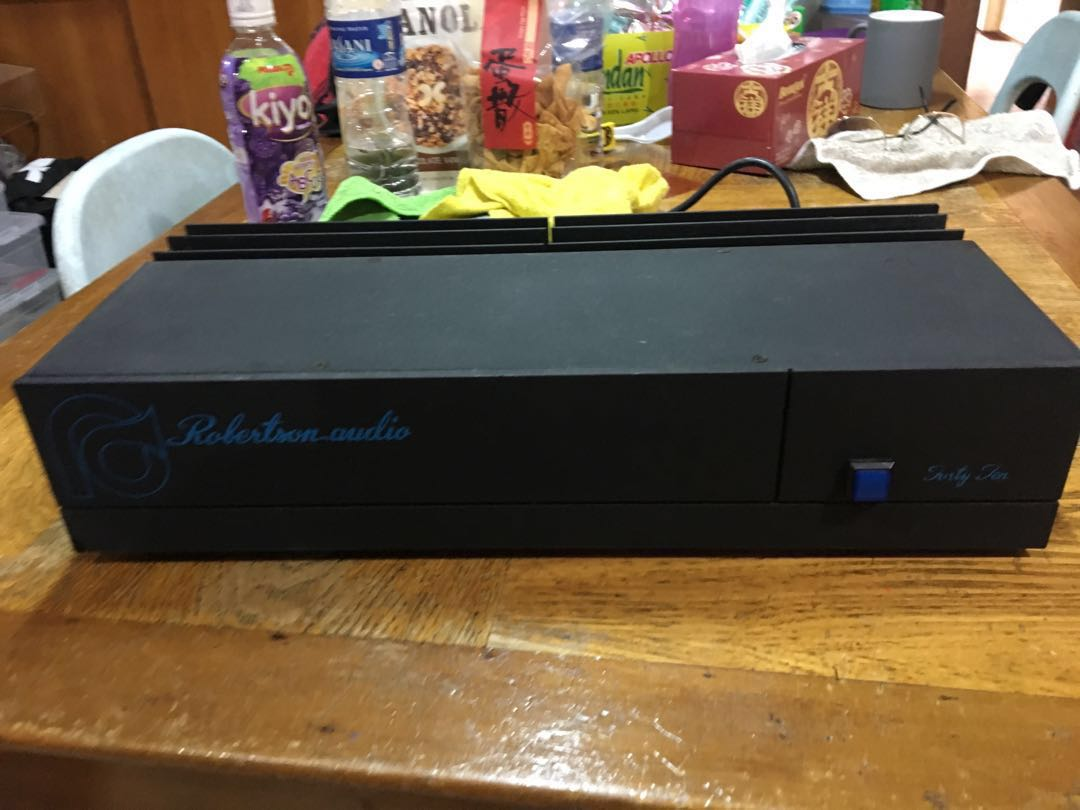 Robertson Audio 4010 Stereo Power Amp Iar Class A Amplifier With 60 Watts Output Winner Of 1a Awards For Rated Per Channel At 8 Ohms Continuous Is Randomly Used And In Original Condition