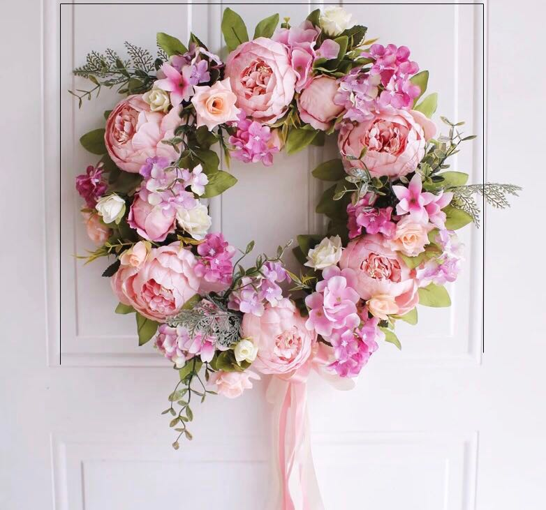 Round Pink Flower Wall Garland Furniture Others On Carousell