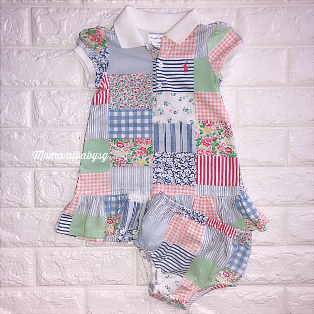 e524c3e9c SALE! Ralph Lauren Rare patchwork baby dress, Babies & Kids, Babies ...