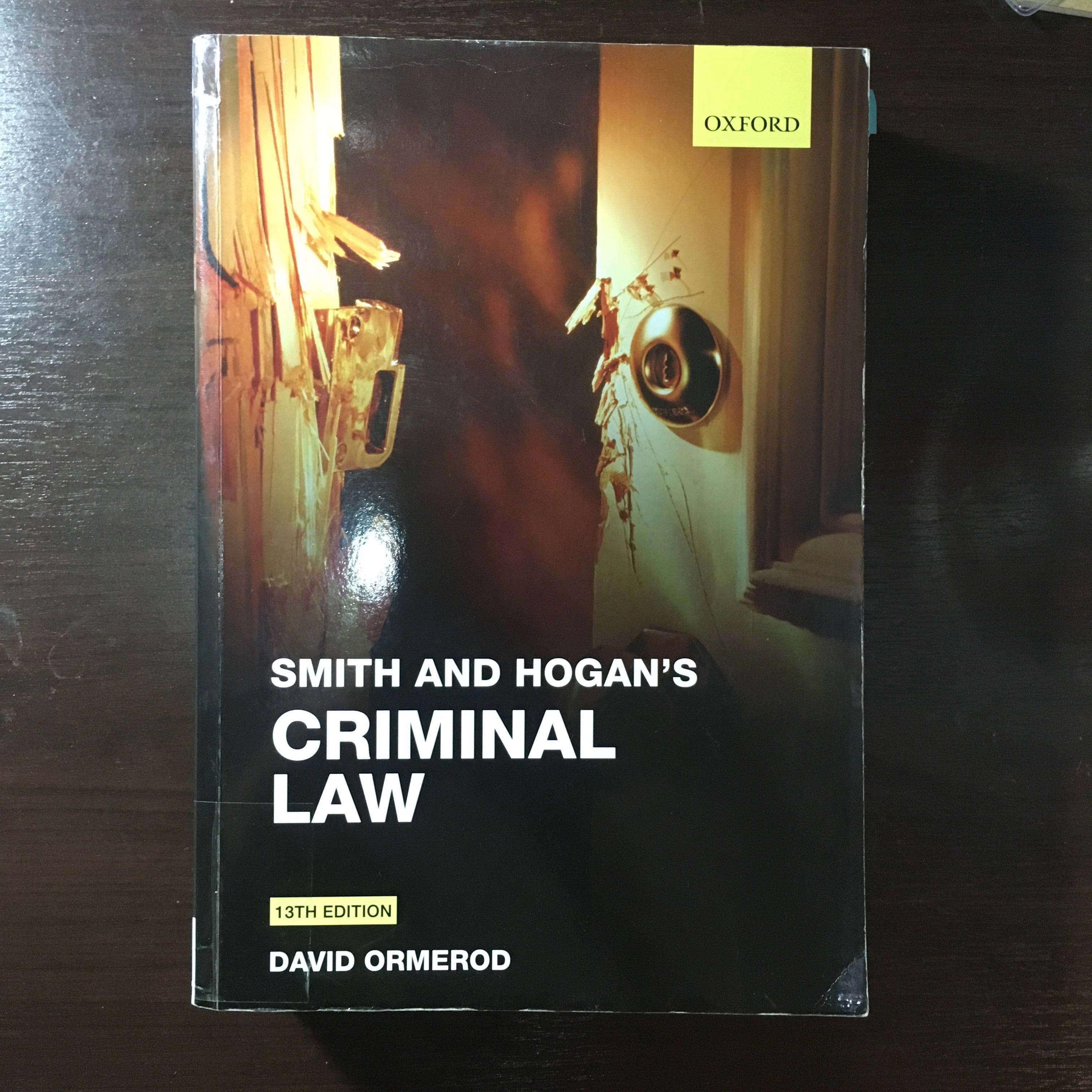 Smith and Hogan's Criminal Law (13th edition)