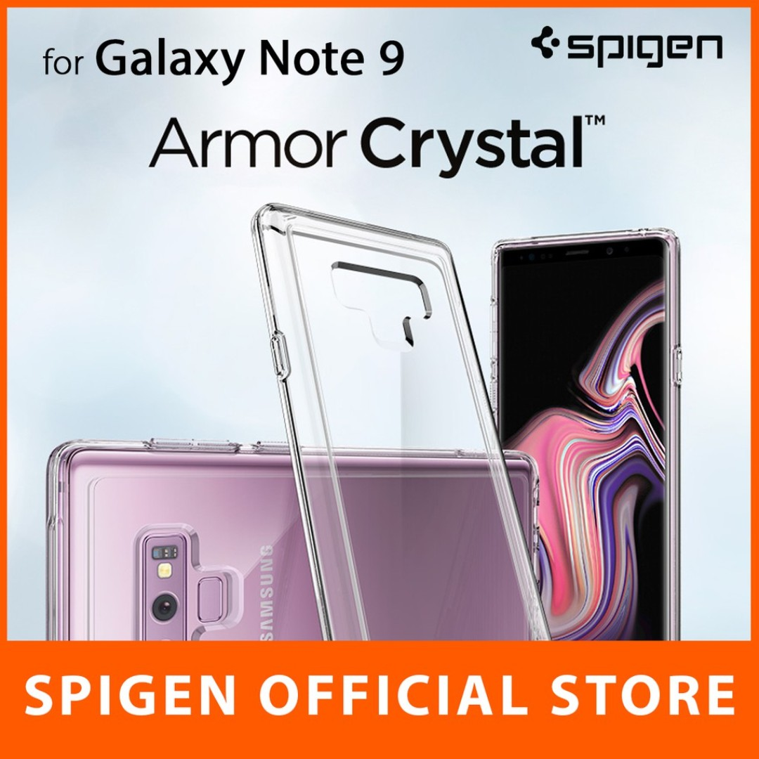 Spigen Galaxy Note 9 Case Slim Armor Crystal Mobile Phones Original Clear Tablets Tablet Accessories Cases Sleeves On Carousell