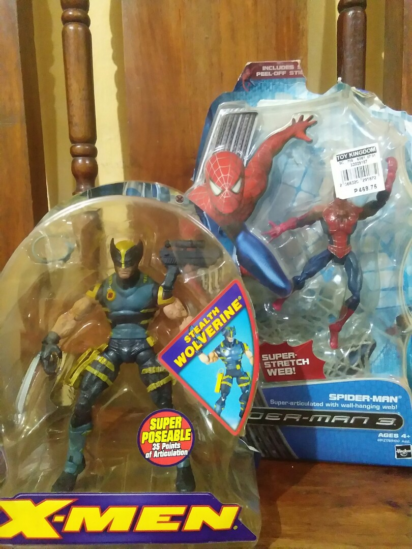 Toybiz Wolverine And Hasbro Spiderman Toys Games On Carousell
