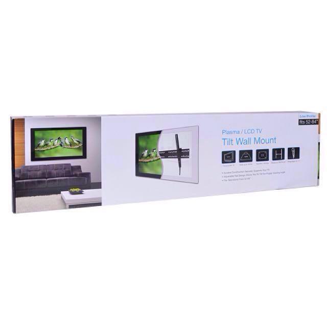 "Vivitar 52""- 84"" (132 lbs) VIV-LWM-85 Plasma/LCD Low Profile TV Wall Mount Bracket w/Tilt Function (Black)"