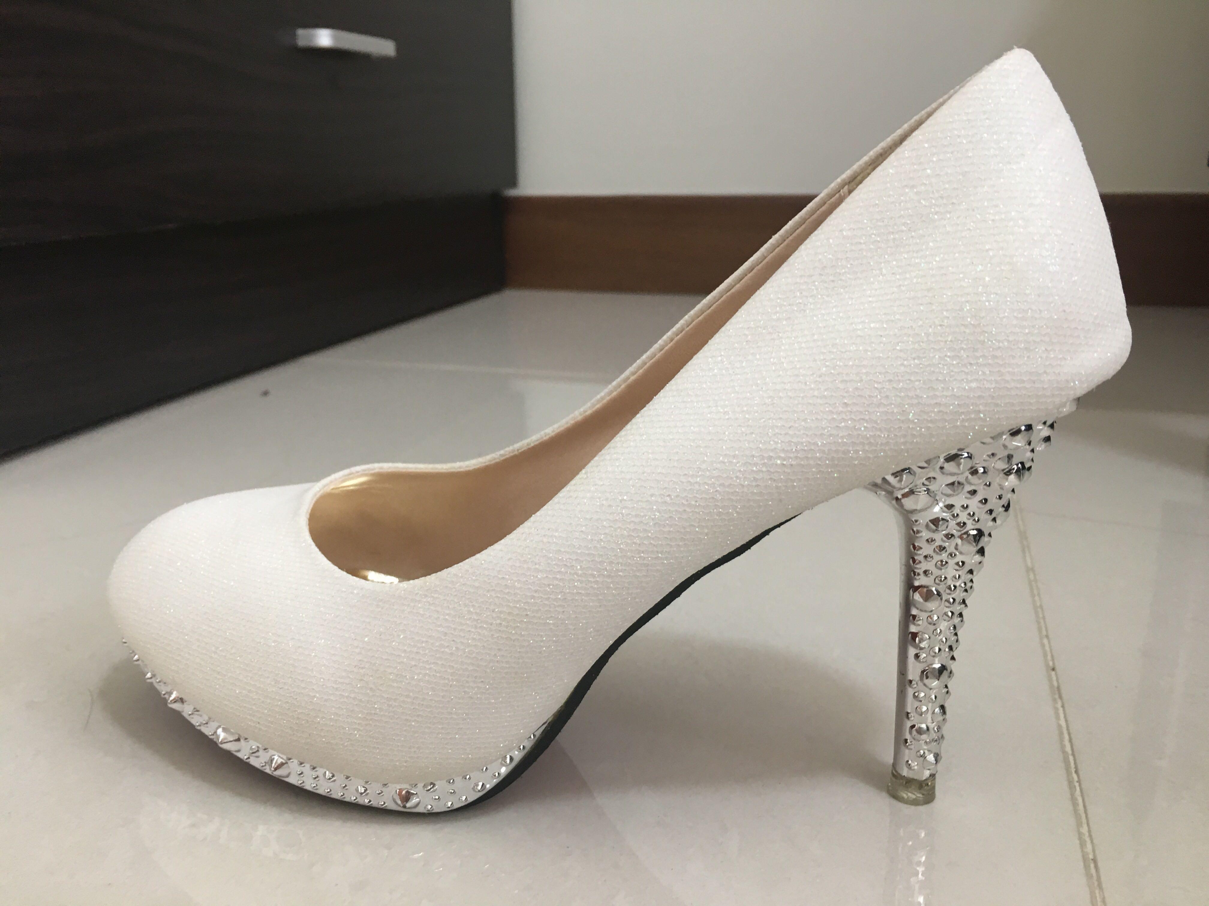 3631d5ea9f0 White Wedding Heels