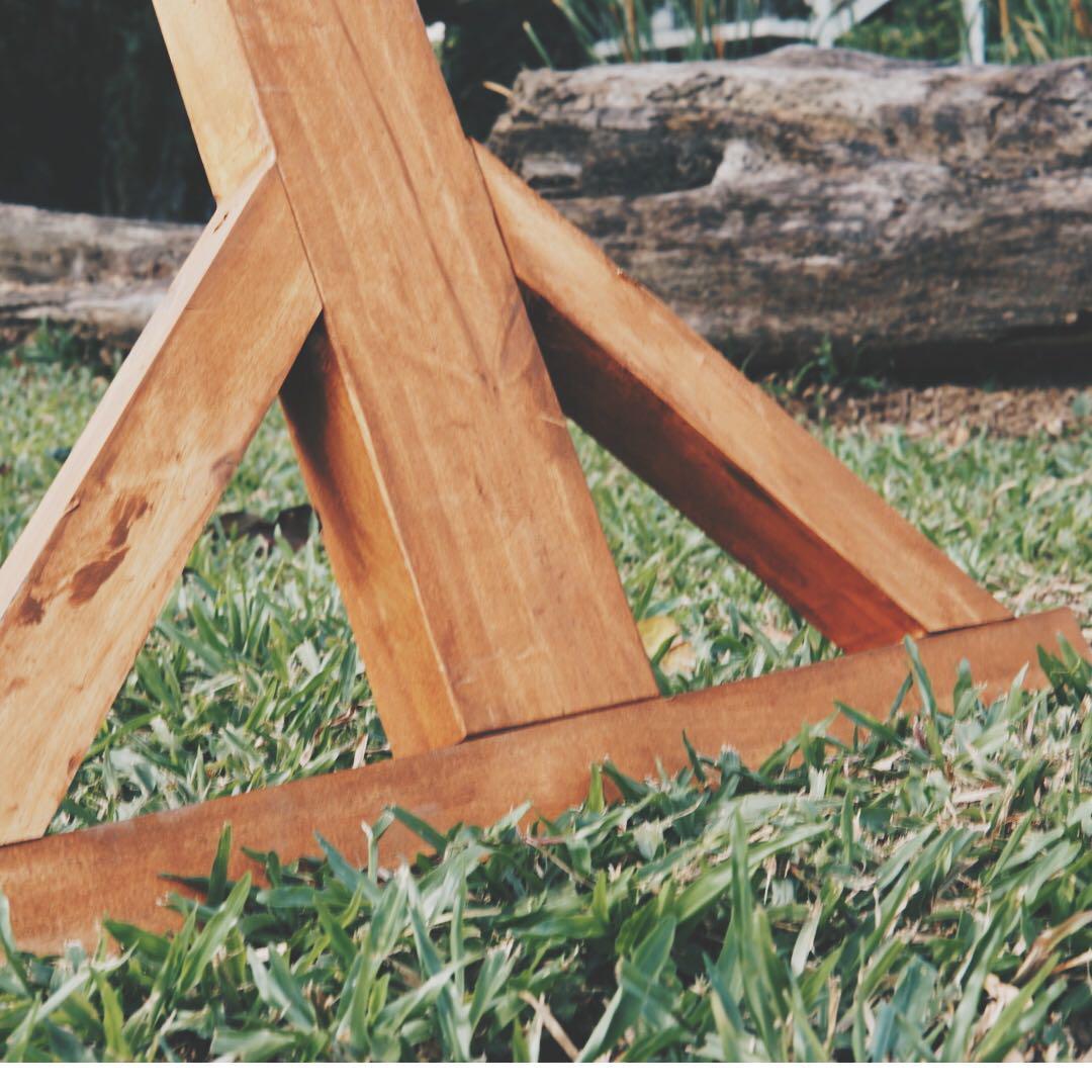Wooden Triangle Arc Backdrop (Rental), Design & Craft