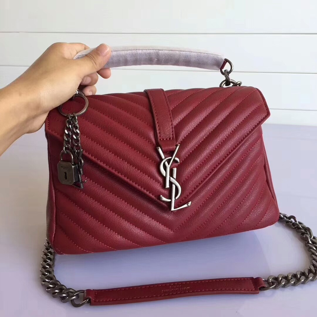 Authentic New Ysl Saint Lau Handbag 354119 C150j 6805 Calfskin Red Reebonz  Canada. Ysl 2017 Collection Bags Outlet Muse 2016 c27749dd656ab