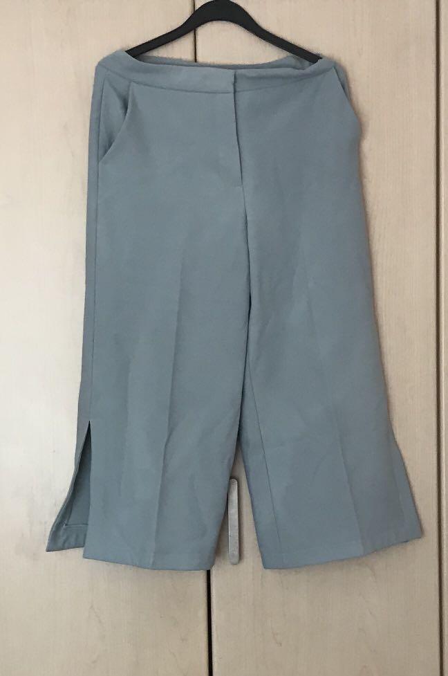 """dc5c271147 Zara Blue culottes - 30"""", Women's Fashion, Clothes, Pants, Jeans ..."""
