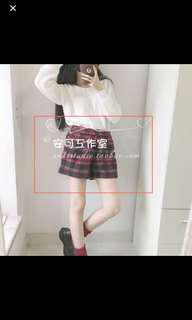 BN red and black plaid checkered shorts