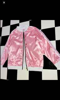 BN authentic omighty silk kitten bomber jacket in powder pink
