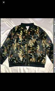BN authentic omighty black wang fei dragon bomber jacket