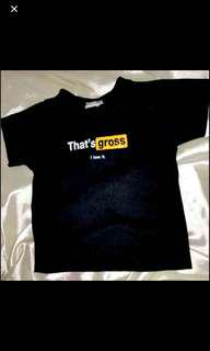authentic omighty black that's gross crop tee