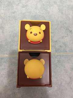 全新 7-11 百變組合 winnie the pooh 頭+尾 1set