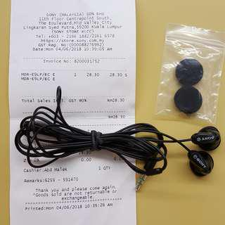 SONY MDR-E9LP In-ear Headphones #MMAR18