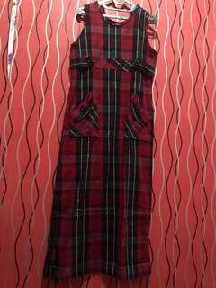 Plaid Red Dress #Merdeka73