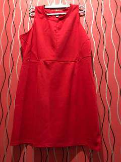 Red Midi Dress #Merdeka73