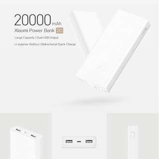 SL-001 Xiaomi 20000mAh Mi Powerbank 2C White