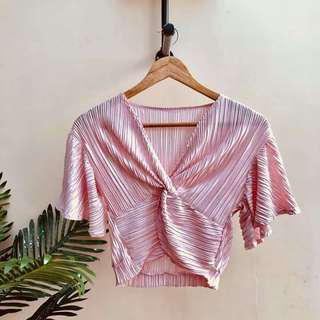 Pleated butterfly top