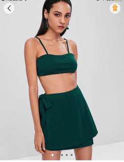 Zaful crop top and skirt set