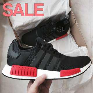 3c55666e03007 Adidas NMD Black Red Bred