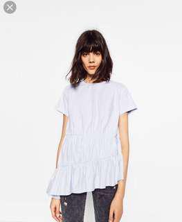 Zara Gathered Hem Top