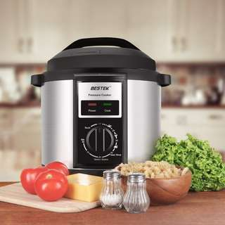 373 (Brand New) BESTEK Mechanical Electric Pressure Cooker Rotary Control Knob, 6 Litre, 1000 W - Stainless Steel/Black