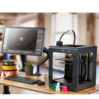 375 (Brand New) Monoprice Maker Ultimate 3D Printer Large Heated (200 x 200 x 175mm) Build Plate