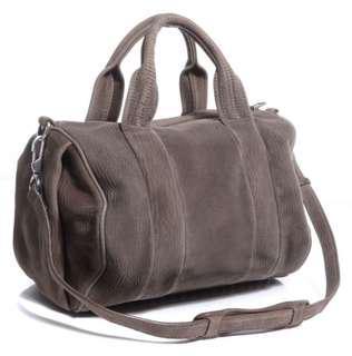 "Alexander Wang ""Rocco"" satchel laser-cut velvet bag"