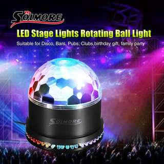 296 (Brand New) SOLMORE LED Stage Lights RGB Sound Actived Crystal Magic Ball