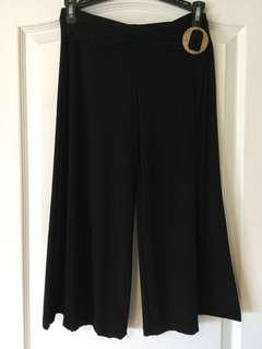 Black flare pant-skort. Women's/Ladies/Girls/Teens. Size XS/S worn once for a dance competition .
