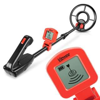 313 (Brand New) Viewee Lightweight Metal Detector with Waterproof Search Coil and LCD Display Suitable for Junior and Beginner with Shovel as Family Leisure