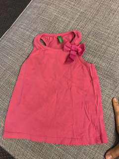 United colours of benetton pink top