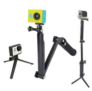 Sale 3 way monopod Gopro Hero/SJCAM 4000/5000/SJ6/7 Sport Action Camera
