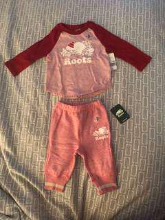 Roots Baby Girl Outfit 3-6 months (baby small)