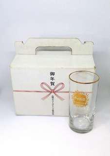 日本可口可樂 金邊水杯x6隻 千禧紀念禮盒套裝 Coca-Cola 2000